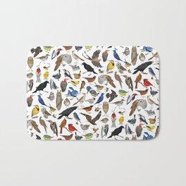 Bird Pattern Bath Mat