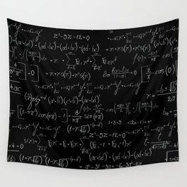 Chalk board mathematics pattern Wall Tapestry