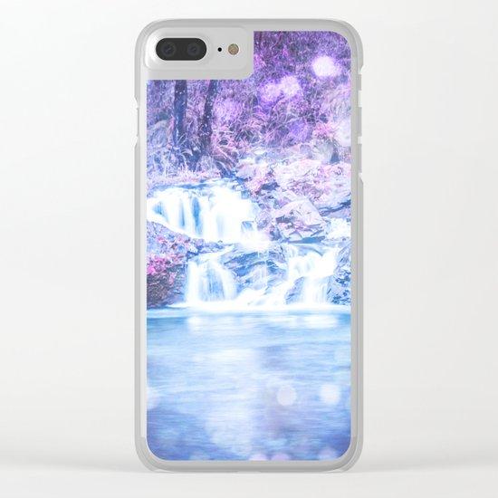 Mermaid Waterfall Clear iPhone Case