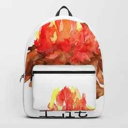 Lit Campfire Summer Camping Backpack