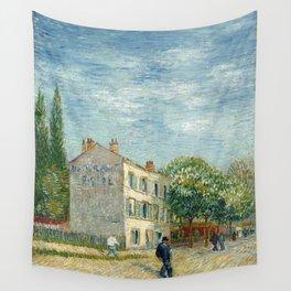 Restaurant Rispal at Asnieres by Vincent van Gogh Wall Tapestry