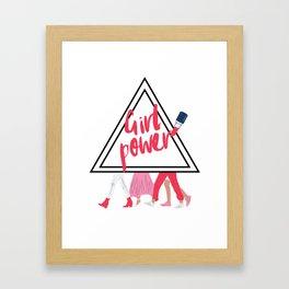 girl power. Framed Art Print