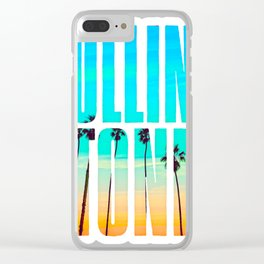 Palm Stone Clear iPhone Case