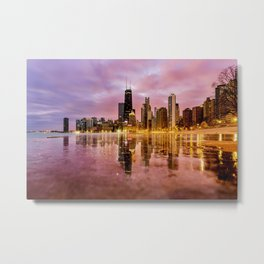 Chicago Reflections Metal Print