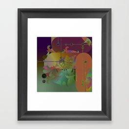 Retro Kimono Framed Art Print