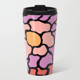 abstract shades of red and pink Metal Travel Mug