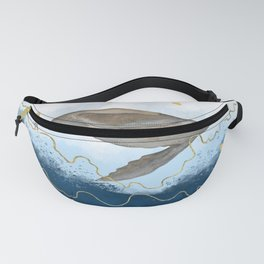 Flying Seal - Rising Waters Surreal Climate Change  Fanny Pack
