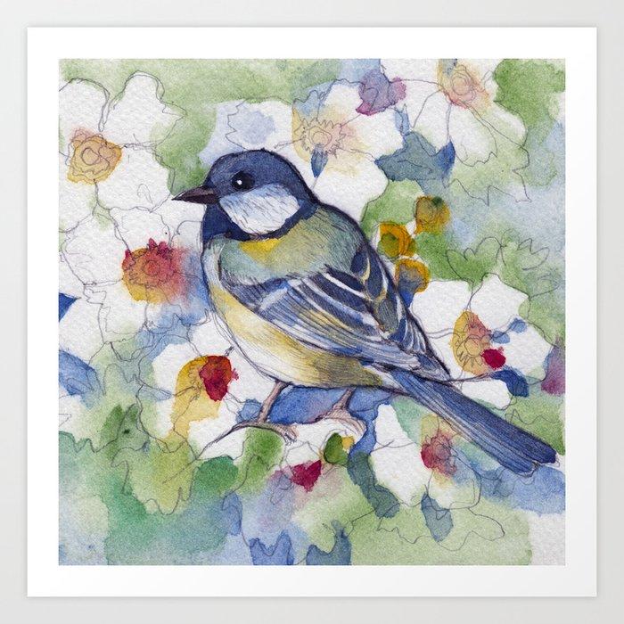 Bird in Fall Art Print