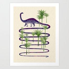 Dinosaur Walk Art Print