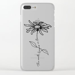 Flower Quote Clear iPhone Case