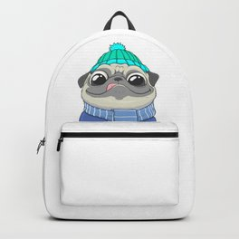 Pug with coffee Backpack