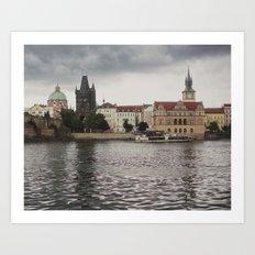 The Charles Bridge, Prague Art Print