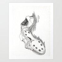 sneakers Art Prints featuring Sneakers by DelaneyFamilyArt
