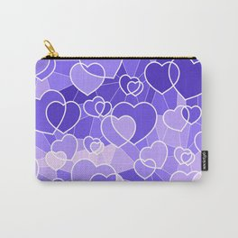 Lavender Hearts Carry-All Pouch