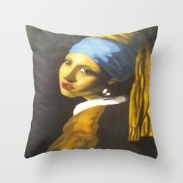 Girl with the Pearl Earring Original Throw Pillow