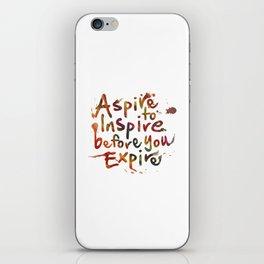 Morning Inspiration iPhone Skin