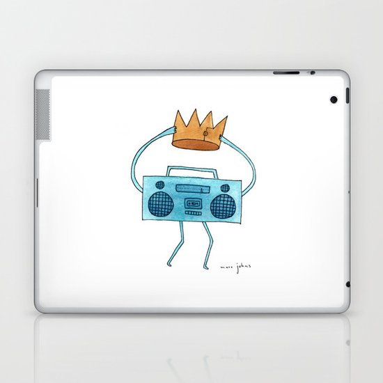 boombox holding a paper crown Laptop & iPad Skin