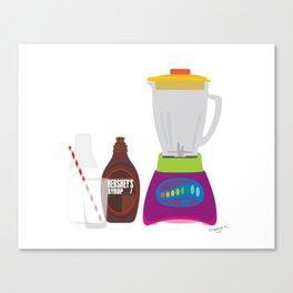 Chocolate Milk Shake Canvas Print