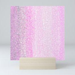 Modern Abstract Pink Geometrical Gradient  Mini Art Print