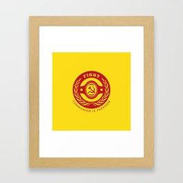 Fight For Freedom Communist Framed Art Print
