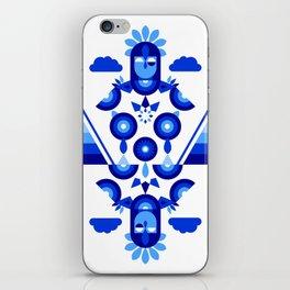 Libra in Blue iPhone Skin