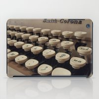 writer iPad Cases featuring Type Writer by Chelsea Gibson