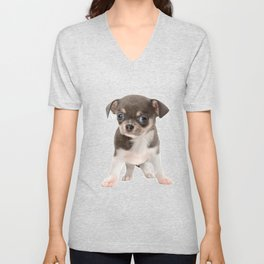 Chihuahua puppy standing Unisex V-Neck