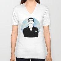 dali V-neck T-shirts featuring DALI by Adam Churcher