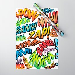 Comic Book Sounds Wrapping Paper