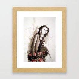 Dhampir in tutu Framed Art Print