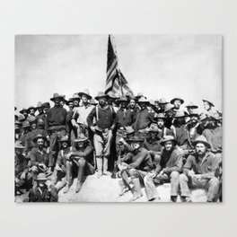 Teddy Roosevelt And The Rough Riders Canvas Print