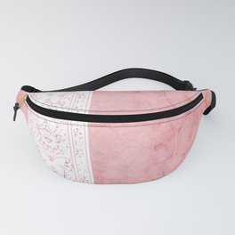 Delicate White Stripe Butterfly Pattern Pink Texure Design Fanny Pack
