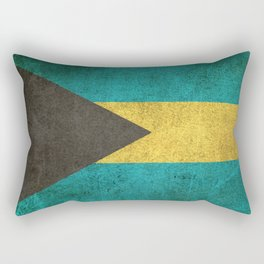 Old and Worn Distressed Vintage Flag of Bahamas Rectangular Pillow