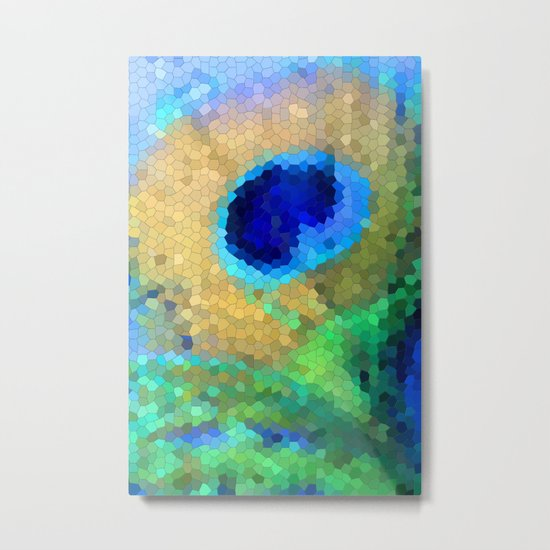 abstract peacock Metal Print