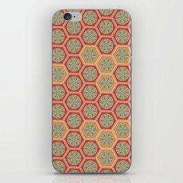 Hexagonal Dreams - Tangerine and Orange iPhone Skin
