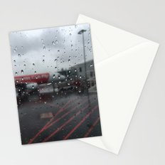 Water Drops On Plane Window Stationery Cards