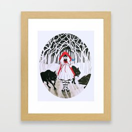 Amongst Wolves Framed Art Print