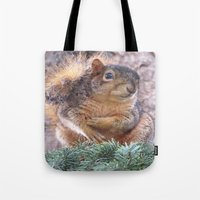 squirrel Tote Bags featuring Squirrel by Sarahpëa