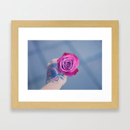Roses on my mind Framed Art Print