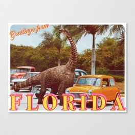 greetings from florida Canvas Print