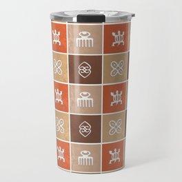 Ethnic african pattern with Adinkra simbols Travel Mug
