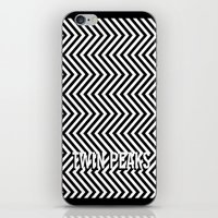 twin peaks iPhone & iPod Skins featuring Twin Peaks by Spyck