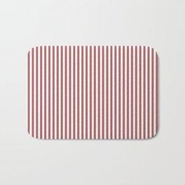 Dusty Cedar Stripes Bath Mat