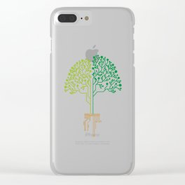 Technology Tree Clear iPhone Case