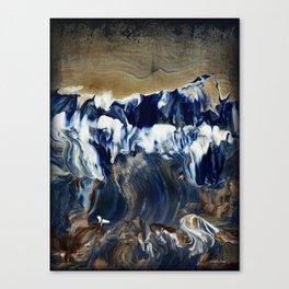 Sapphire Surf Canvas Print