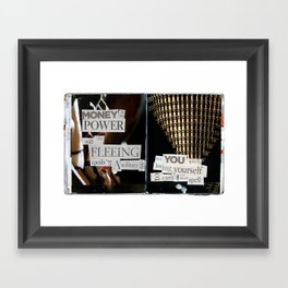 Money for Power Print Framed Art Print