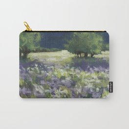 Fields of White and Purple Carry-All Pouch