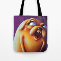 jake Tote Bags featuring Jake  by Kamory