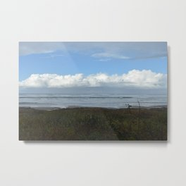 Fluffy Clouds on the Oregon Coast Metal Print