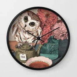 Morning Tea Owl Wall Clock